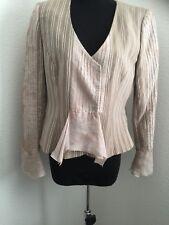 ARMANI COLLEZIONI Blazer ITALY Jacket Shirt Top Flax Rayon silk size 42 6 career