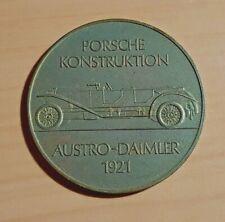 Porsche Münze Medaille 1973 Porsche Konstruktion 1921 Austro-Daimler - ORIGINAL