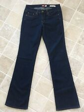 WOMENS JAG JEANS SIZE 9, DARK BLUE, MID RISE, BOOT CUT, COTTON/POLYESTER #1078