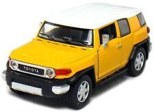 "Kinsmart Toyota FJ Cruiser SUV off road 1:36 scale 5"" diecast model car Yellow"