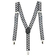 Zac's Alter Ego® Men/ Ladies Adjustable 25mm Width Checkered Braces/ Suspenders
