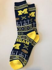 Michigan Wolverines Ugly Xmas Sweater Adult Socks-1 Pair-Large New Free Ship(X1)