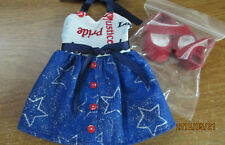 "Patriotic Dress Set made to fit  14.5"" Wellie Wishers dolls   4+"