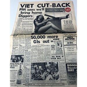 ORIGINAL 16 DEC 1969 THE HERALD COMPLETE NEWSPAPER VIET CUT-BACK GOOD CONDITION