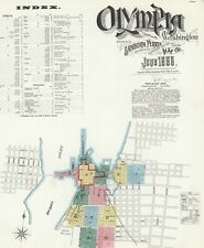 Olympia, Washington Sanborn Map© sheets on Cd 59 maps made in 1884 to 1908~Color