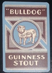 Playing Cards 1 Old Australian Bulldog Guinness Stout Brewery Rob Porter Co Advt