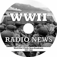 WWII WW2 World War II (284 Radio News Broadcasts) on MP3 CD