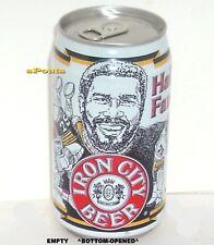 Mean Joe Greene Pittsburgh Steelers Man Cave Beer Can Hall Fame Football Sports