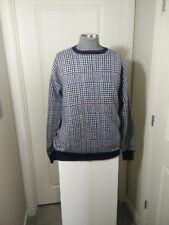 Vtg Geometric/ Houndstooth Crewneck Pullover Sweater  Size XLT -  USA