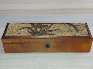 金丝楠木文房盒 傲兰Antique Nanmu wooden box Carved orchid inlaid seaweed handicraft decor