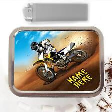Dirt Bike Motocross 2oz Tobacco Tin Baccy Storage Pouch Personalised Gift ST512