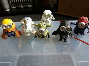 STAR WARS POP MINIONS FIGURES x 6 ,As Seen See Pictures.