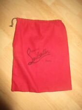 Christian LOUBOUTIN dust bag 9 X 14.25 sleeper shoe storage travel duster red*
