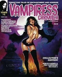 Vampiress Carmilla #1 NM- 1st Print Warrant Publishing Magazine