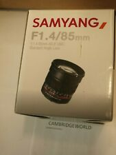 Samyang 85mm F1.4 Aspherical NEW Lens with Built-in AE Chip for Nikon CAMERAS