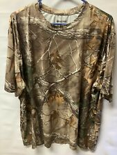 Men's Real Tree Camo T-Shirt Hunting Fishing Size 3XL