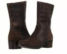 NIB UGG Lou Croco Dark Brown Leather Women Boots 11
