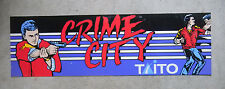 "dirty CRIME CITY TAITO  22-6 3/4"" arcade game sign marquee cF36"