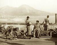 1895 Photo, Nude Males, Naples, Gloeden, print, Artistic, vintage view