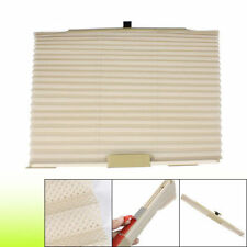 2 Pc Auto Retractable Car Side Window Shade Curtain Sunshade Shield-Beige