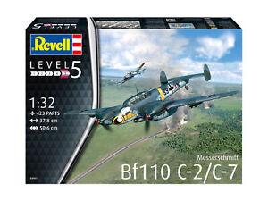 Messerschmitt Bf110 C-7 1:3 2 Plastic Model Kit 04961 Revell