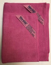 Norwex Textured Kitchen Cloth & Towel Set - Fuscia (Pink) - Antibac Baclock