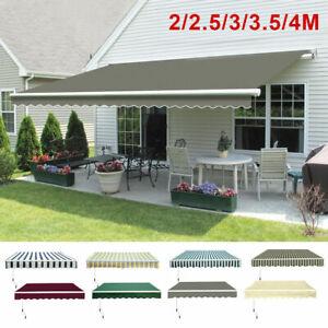 Retractable Awning Manual Outdoor Garden Canopy Patio Sun Shade Shelter 3*Colour