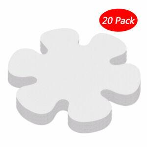 20 Flower Anti-slip Bathtub Decals Stickers Bath Shower Treads Mat for Tubs 10cm