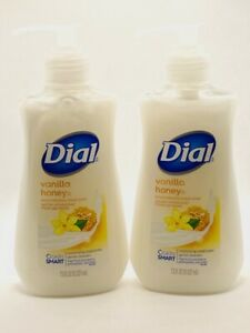 2 Dial Moisturizing Liquid Hand Soap Vanilla Honey Scent 7.5 FL OZ Each