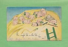 KEWPIES In A HAYSTACK On Authentic A/S ROSE O'NEILL Vintage KLEVER KARD Postcard