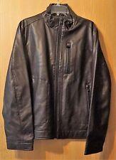 Large Mens Dark Chocolate Michael Kors Leather Jacket