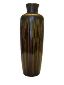 Pier 1 Vase Lava Glaze Burgundy Green Reactive Glaze Tall Floral Vase Bohemian