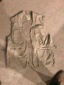 Vintage Sz Large LL Bean Fly Fishing Vest Hunting Photography Tam Multi Pocket