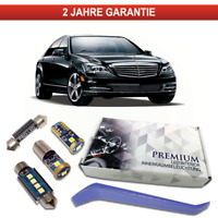 Mercedes W221 LED Innenraumbeleuchtung Premium 22 SMD Set Weiß Canbus C216