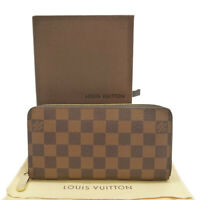 Authentic LOUIS VUITTON Zippy Wallet Damier Ebene N60015 #S311042