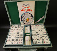 Chinese Mah Jong Bamboo-Sticks-144 Tiles Travel Case Mah Jong Chinese Game