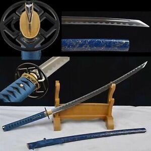 Handmade T10 Steel Reverse Blade Katana Japanese samurai sword Full Tang Sharp