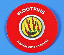 Primal Happy Smiley Face Raptor Claws Set of 2 Pins New March 2017 Loot Crate