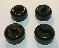 62555 Interruttore elettrico in bachelite - vintage Lotto 4 pezzi marrone