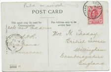 1906 Transvaal KEVII 1d Bloemfontein PPC->Cambridge w/GB postmarks only