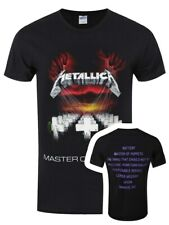 Metallica T-shirt Master of Puppets Men's Black
