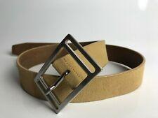 SADDLER Genuine Leather Unisex Belt with Metallic Buckle Size 98 CM Color Beige