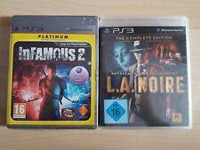 inFamous 2 und L.A. LA Noire Complete Edition Playstation 3 Neu PS3