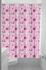 Sourpuss Zombie Bunny Shower Curtain Pink Brains Cupcakes Horror Bathroom Decor