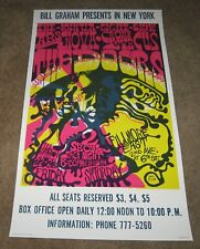 The Doors 1968 Concert Poster 2nd Printing Fillmore East Bill Graham Limited