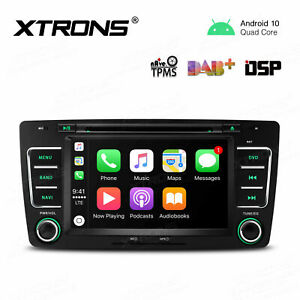 """7"""" Android 10.0 Car Stereo DVD Player GPS DSP Quad Core for Skoda Octavia Yeti"""
