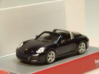 Herpa Porsche 911 Targa 4, nachtblau metallic - 038867 - 1:87
