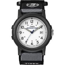 """Timex T49713, Men's """"Expedition Camper"""" Nylon Watch, Indiglo, Date, T497139J"""