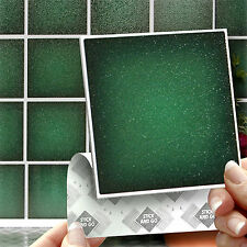 18 Stick & Go Brunswick Green Stick On Wall Tiles Stickers For Bathroom, Kitchen