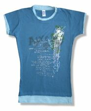Aly & AJ Text Collage Blue Ringer T Shirt New Juniors Girls Small S